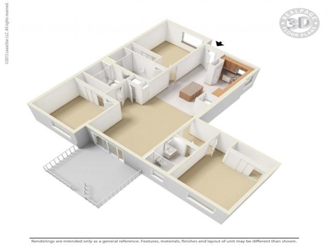 3bd/3ba-5TH-floor plan