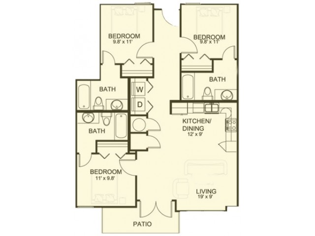 3 Bedroom/3 Bathroom