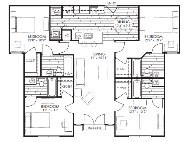 2 3 4 bedroom student apartments in arlington tx - 4 bedroom apartments in arlington tx ...