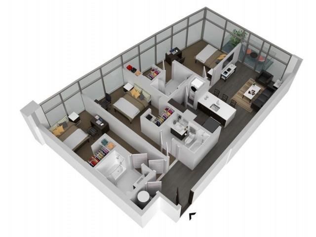 C2 - Three Bedroom