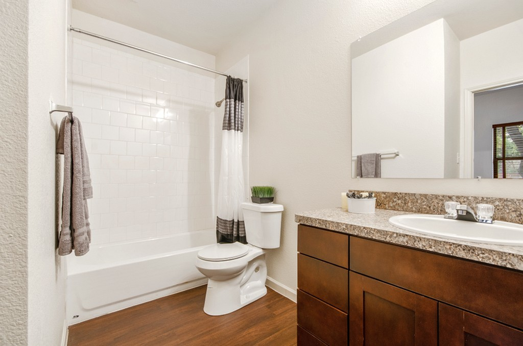 Image of Personal Bathroom in Bedroom with Standard Tub for The Edge @Bluebonnet Circle