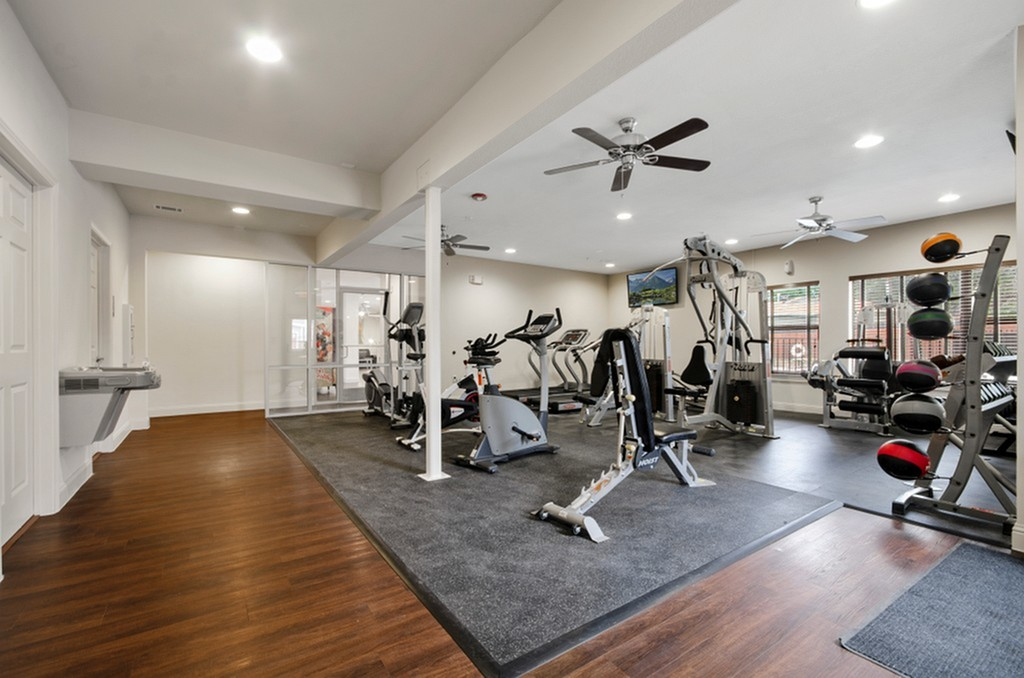 Image of 24-HR Fitness Center with Cardio and Strength Training Equipment for The Edge @Bluebonnet Circle