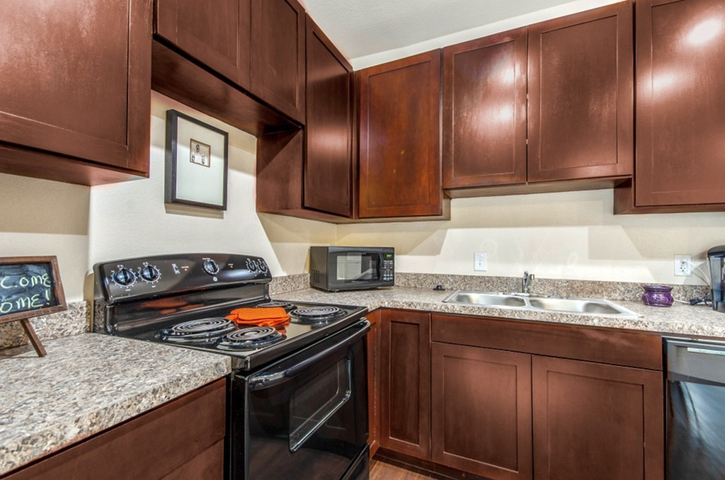 Image of Gray Faux Granite Counter Tops for The Edge @Bluebonnet Circle