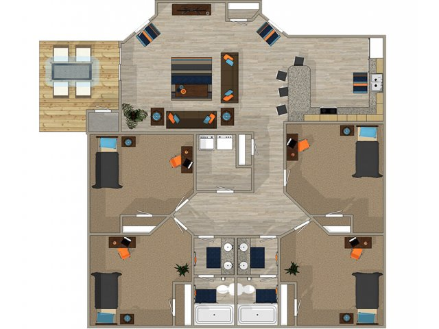 4 Bedroom Floor Plan | 700 SoHo 2