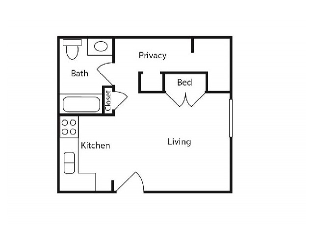 Floor Plan 4 | Apartments Near WMU | 13 Twenty-Four Kalamazoo