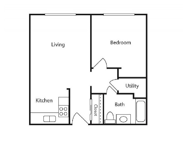 Floor Plan 2 | Student Apartments Kalamazoo WMU | 13 Twenty-Four Kalamazoo