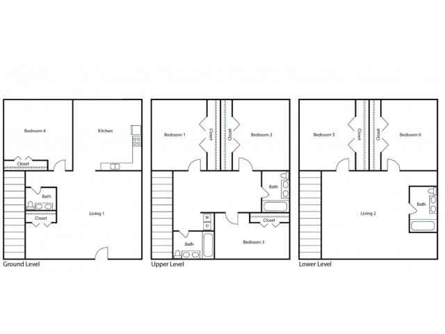 Floor Plan 7 | Student Apartments Kalamazoo WMU | 13 Twenty-Four Kalamazoo