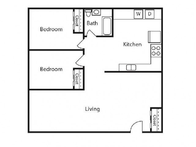 Floor Plan 6 | Student Apartments Kalamazoo | 13 Twenty-Four Kalamazoo