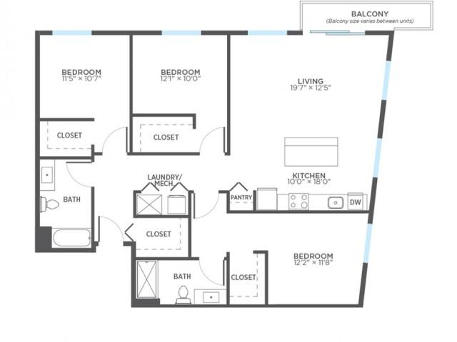 3 Bed / 2 Bath Apartment in MILWAUKEE WI | Stitchweld