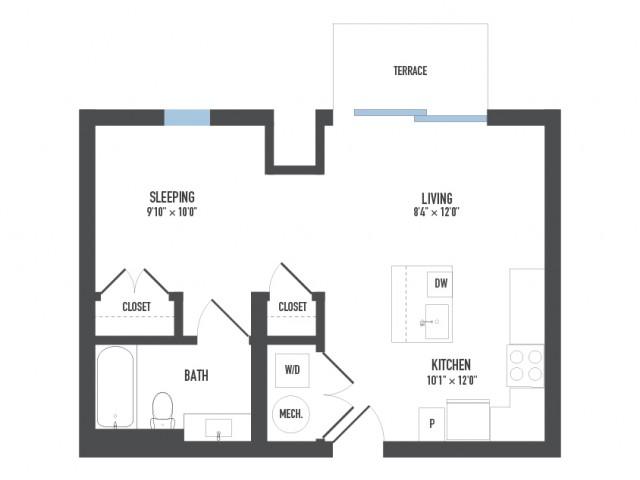 Floor Plan 4   Luxury Apartments Pittsburgh Pa   Arsenal 201