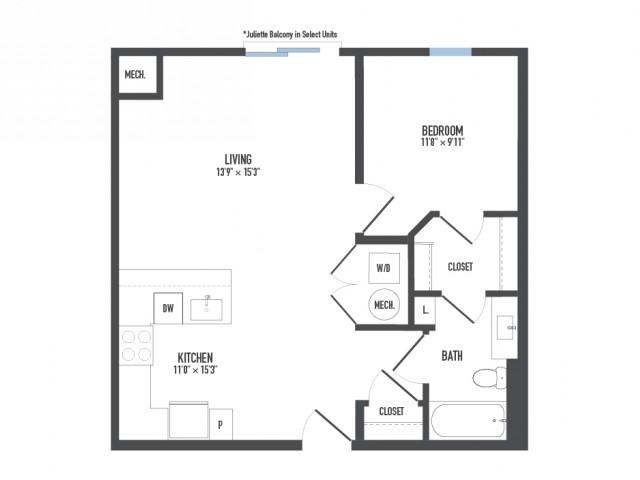 Floor Plan 6   Luxury Pittsburgh Apartments   Arsenal 201