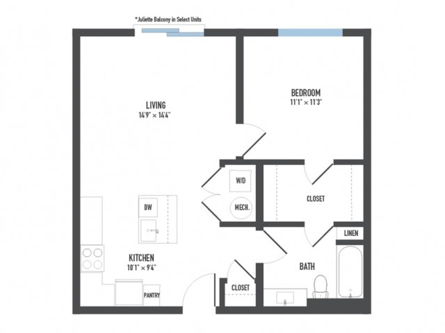 Floor Plan 8 | Pittsburgh Apartments | Arsenal 201