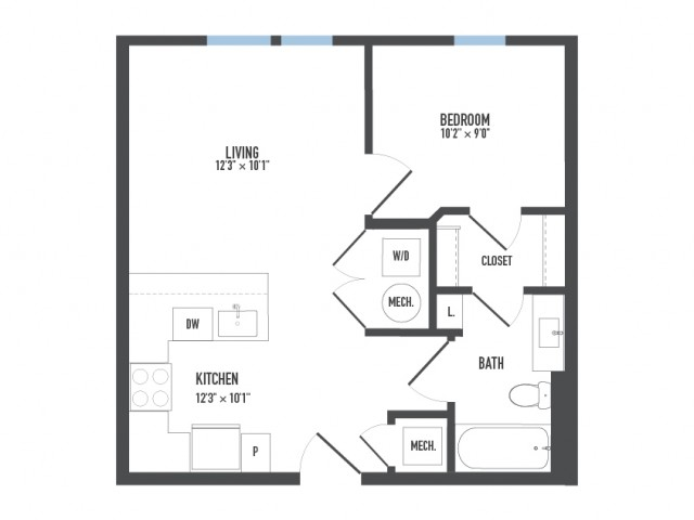 Floor Plan 13   Pittsburgh Apartments   Arsenal 201
