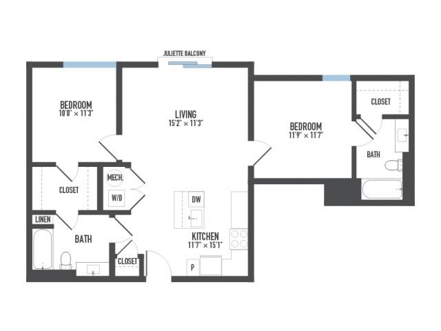 Floor Plan 20   Apartments In Pittsburgh   Arsenal 201