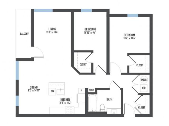 Floor Plan 24   Luxury Apartments Pittsburgh Pa   Arsenal 201