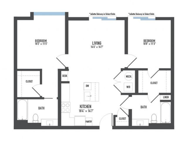 Floor Plan 26 | Luxury Pittsburgh Apartments | Arsenal 201