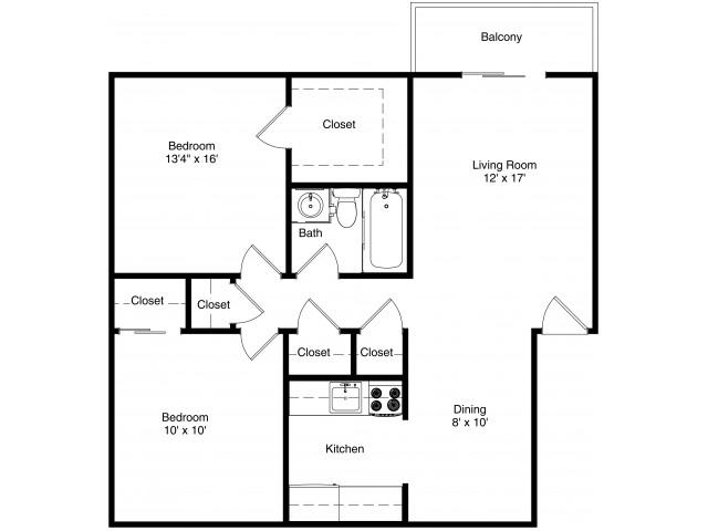 All|Floor PlansTwo Bedroom Flat