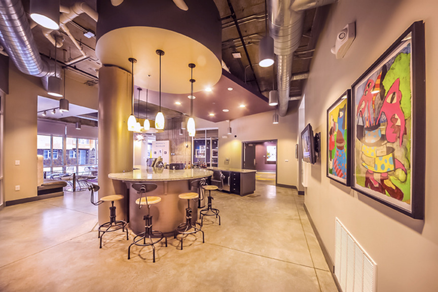 Image of Lounge with Complimentary Coffee Bar for Artistry