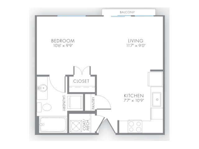 Studio 40 Bath Apartment In Indianapolis IN Artistry Apartments Awesome One Bedroom Apartment Plan Minimalist