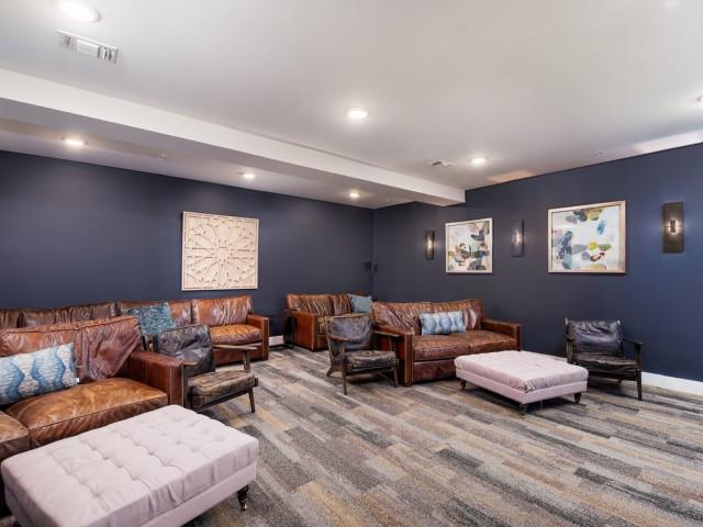 Community Media Room | Apartments Bloomington IN | Echo Park-Bloomington