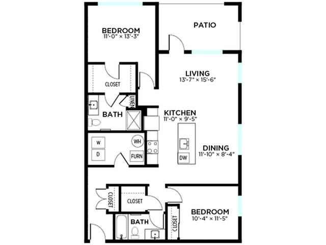 Guilford - 2 Bed, 2 Bath