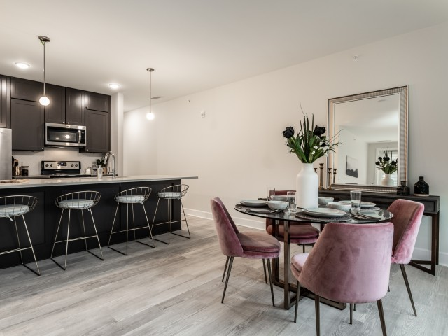 Dining Table Space, Broad Ripple Apartments