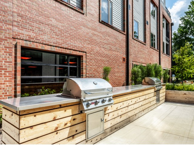 Image of Outdoor Kitchen with Gas Grills for The MK