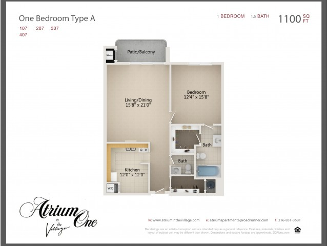 A1 One Bedroom Type A