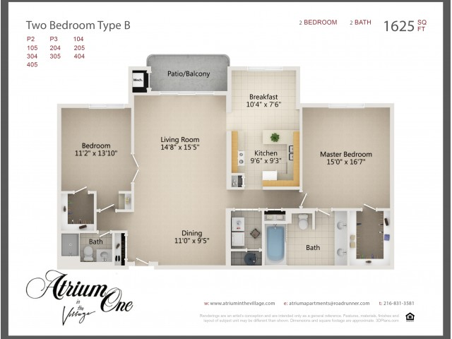 A1 Two Bedroom B