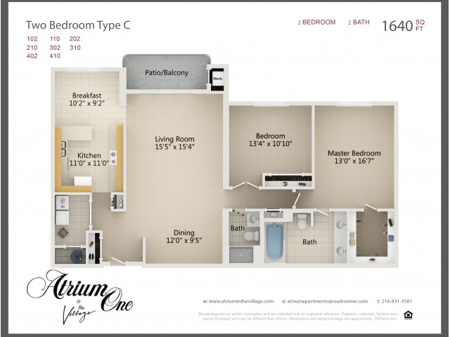 Two Bedroom Type C