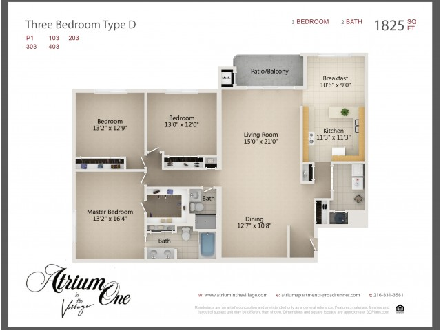 A1 Three Bedroom Type D