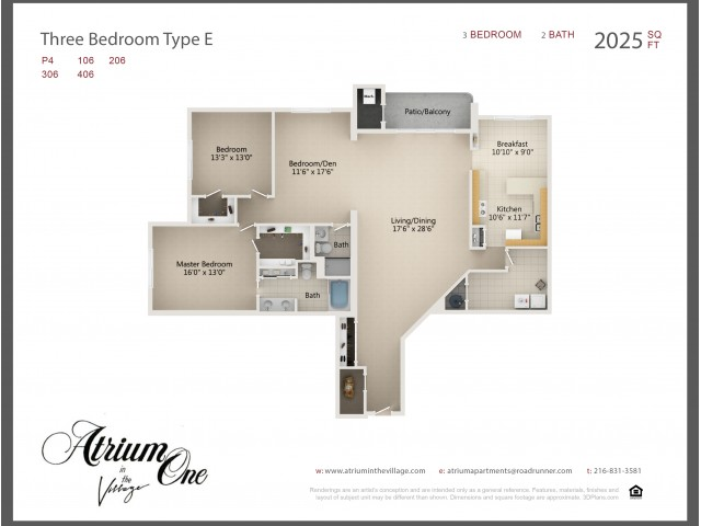 A1 Three Bedroom Type E