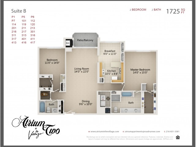 A2 Two Bedroom Type B
