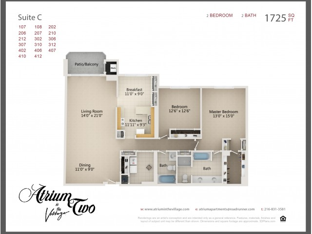 A2 Two Bedroom C
