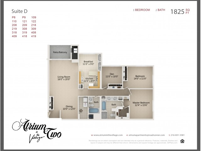 A2 Three Bedroom Type D