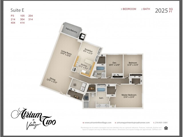 A2 Three Bedroom Type E