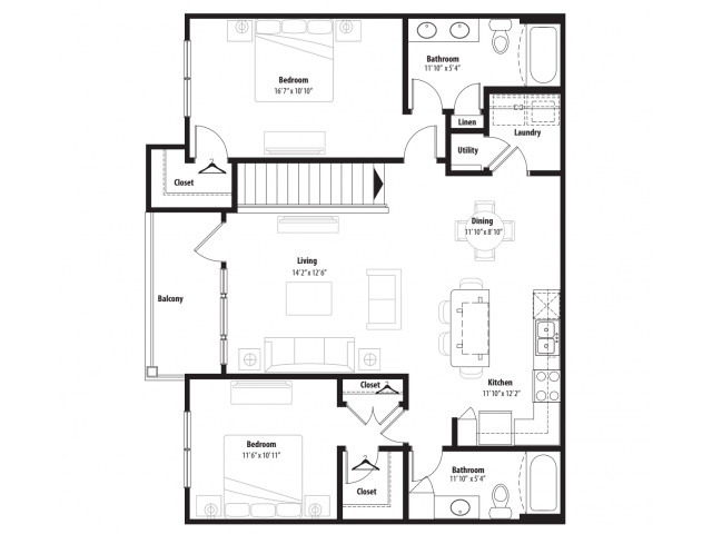 A 2D Drawing Of The B4G Floor Plan