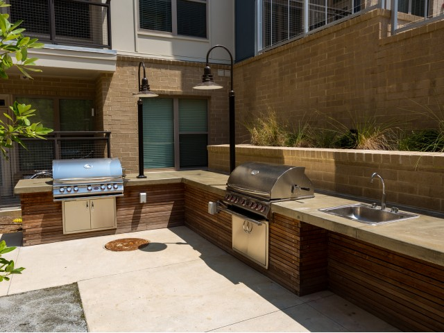 Image of Lavish Fire Table and Grilling Station for Millworks