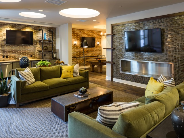 Image of Elegant Clubhouse With Culinary-Inspired Kitchen for Millworks