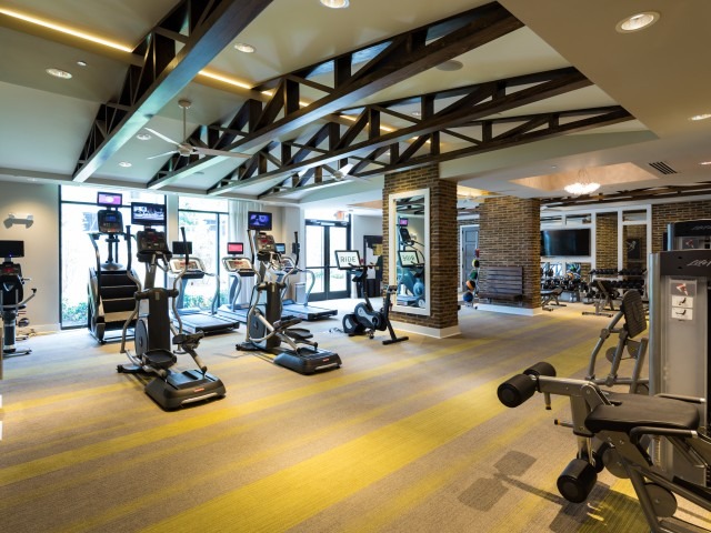 Image of Grand Athletic Club with Cardio Equipment and Yoga Space for Millworks
