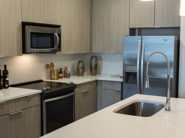 Image of Stainless Steel Appliances and Side-by-Side Refrigerator for Millworks