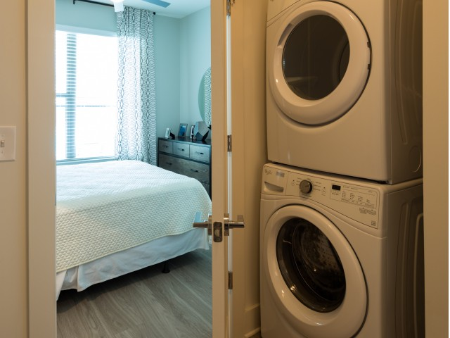 Image of Washer and Dryer Included in Each Apartment Home for Millworks