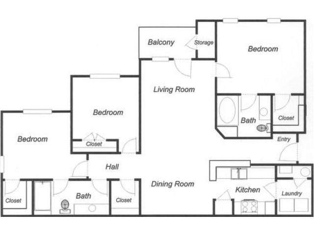 3 Bedroom 2 Bath