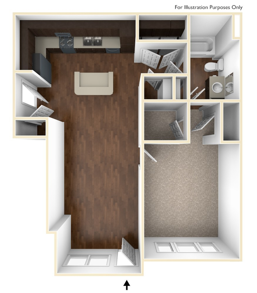 A 3D Drawing of the A1 Floor Plan