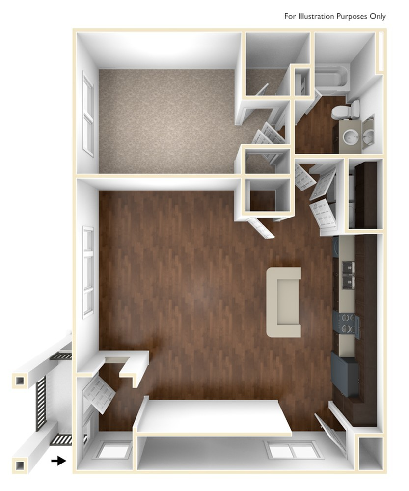 A 3D Drawing of the A4 Floor Plan
