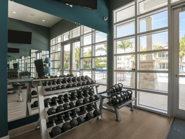 Image of 24-Hour Fitness Facility with Yoga and Pilates Area for Longitude 81