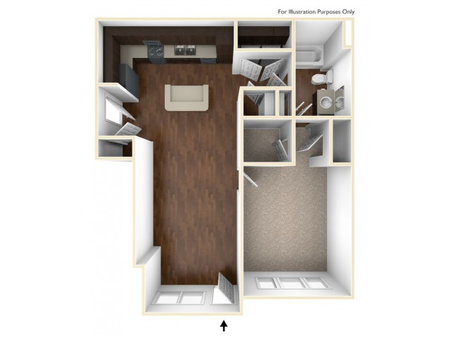 A 3D Drawing of the A1U Floor Plan