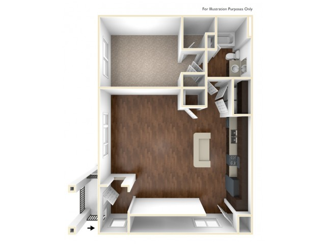 A 3D Drawing of the A4U Floor Plan