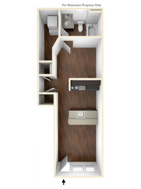 A 3D Drawing of the S1U Floor Plan