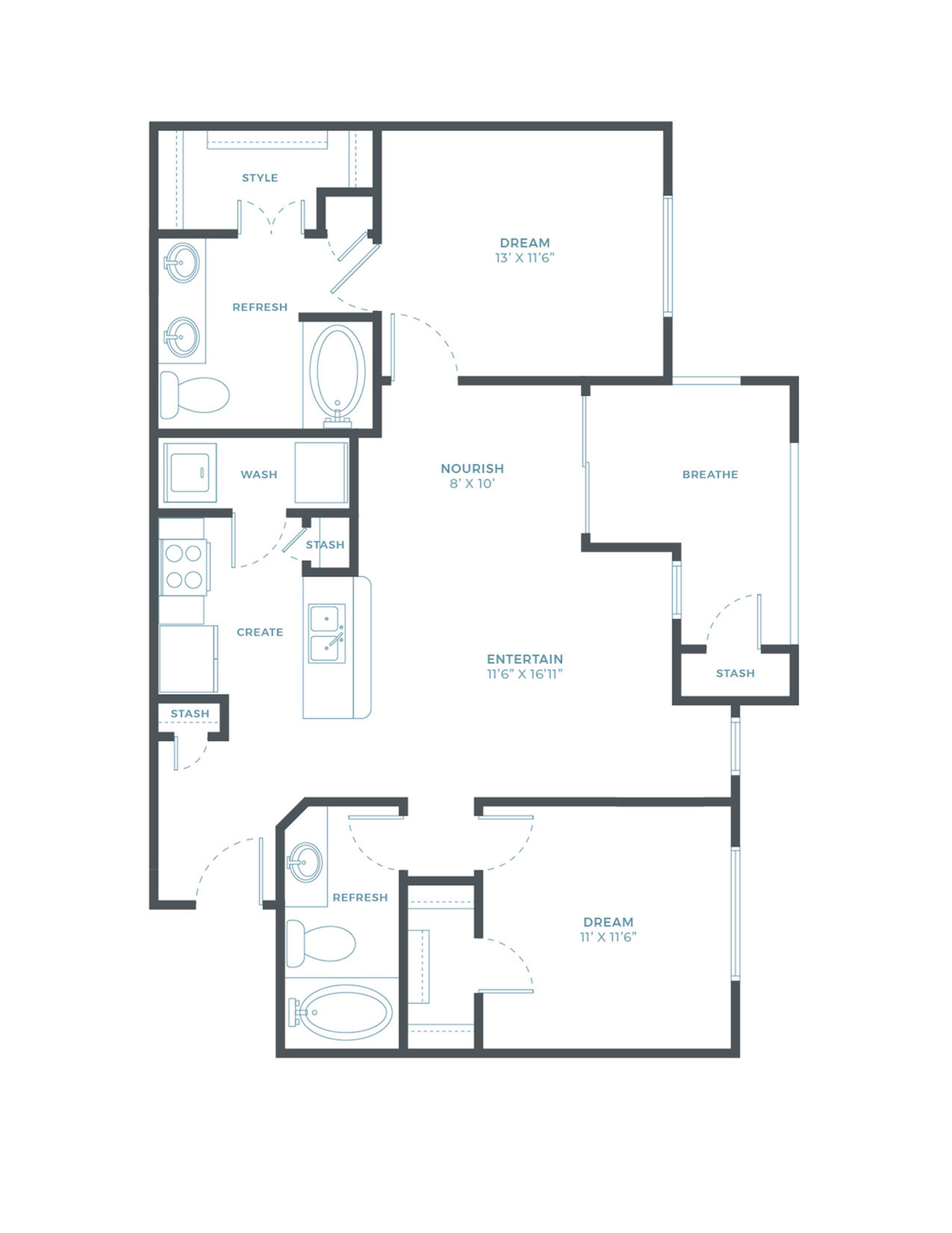 The Tidewater WF Floor Plan